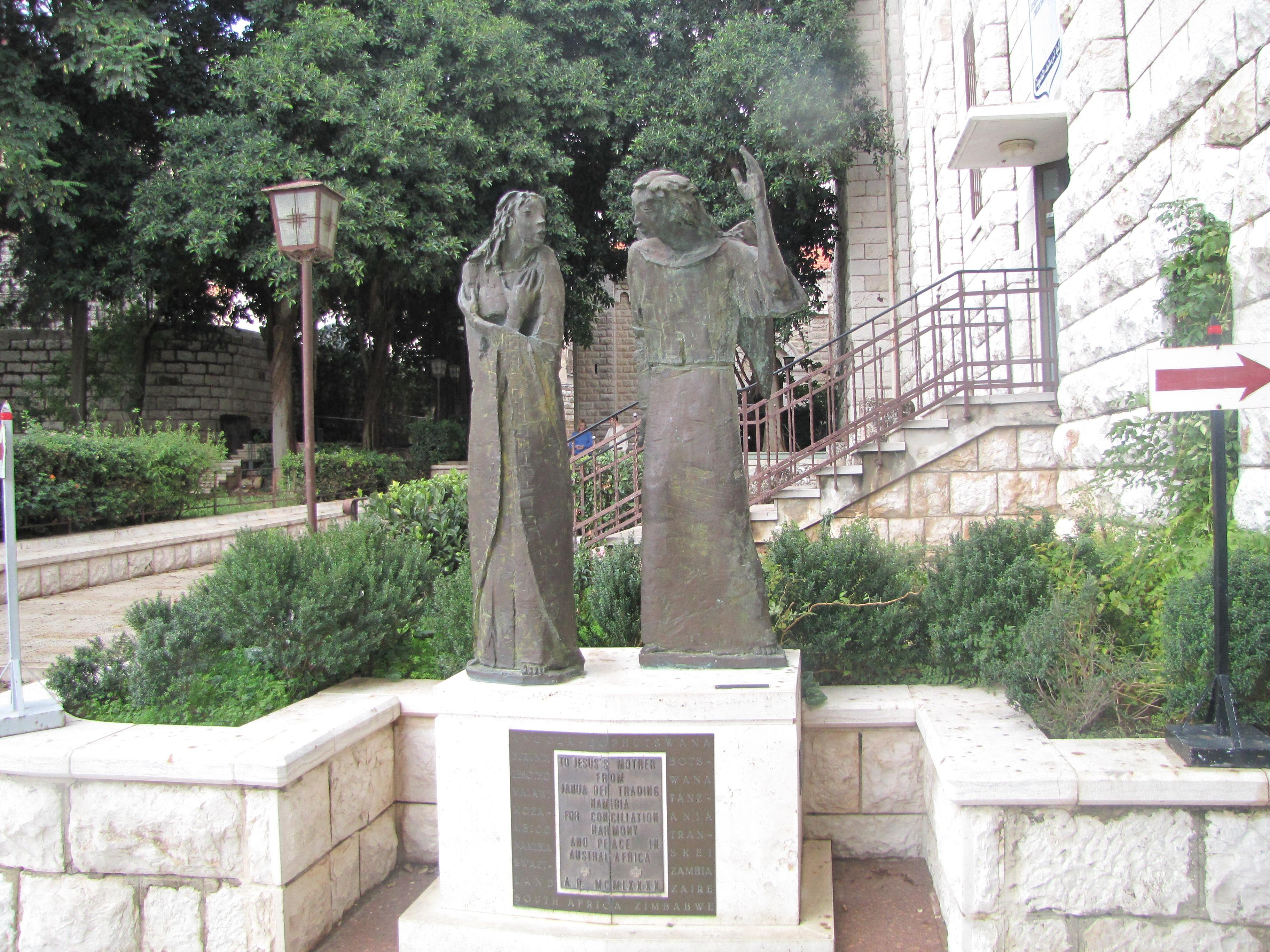 Фигуры Марии и Ангела в скульптурной группе
